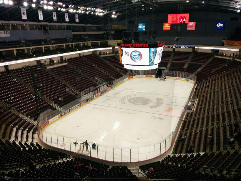 Seating view for Giant Center Section 202 Row g Seat 11