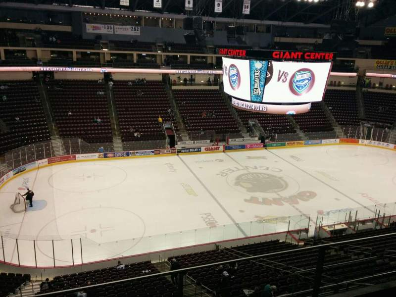 Seating view for Giant Center Section 205 Row c Seat 9