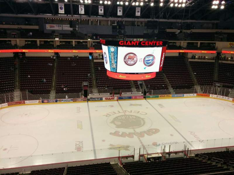Seating view for Giant Center Section 206 Row d Seat 8