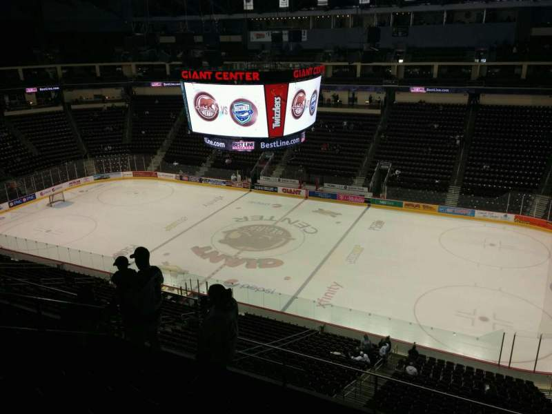 Seating view for Giant Center Section 209 Row f Seat 16