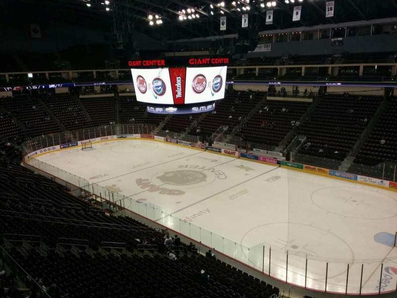Seating view for Giant Center Section 210 Row a Seat 9