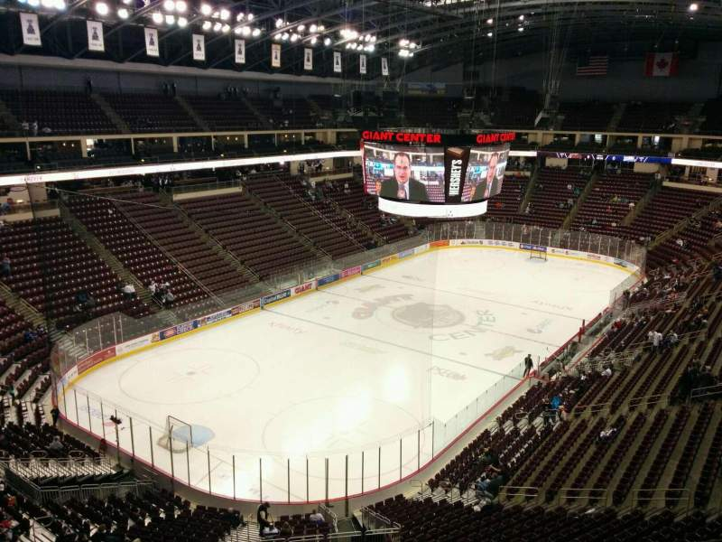 Seating view for Giant Center Section 216 Row e Seat 19