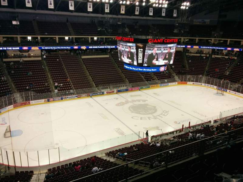 Seating view for Giant Center Section 218 Row e Seat 10