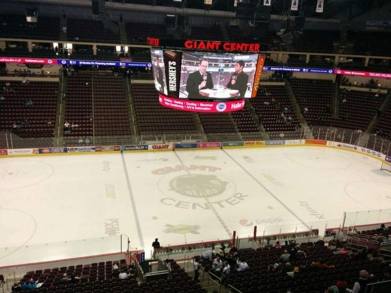 Seating view for Giant Center Section 219 Row b Seat 8