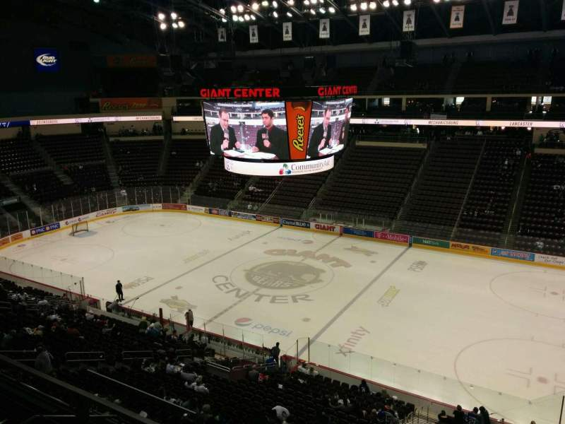 Seating view for Giant Center Section 222 Row b Seat 12