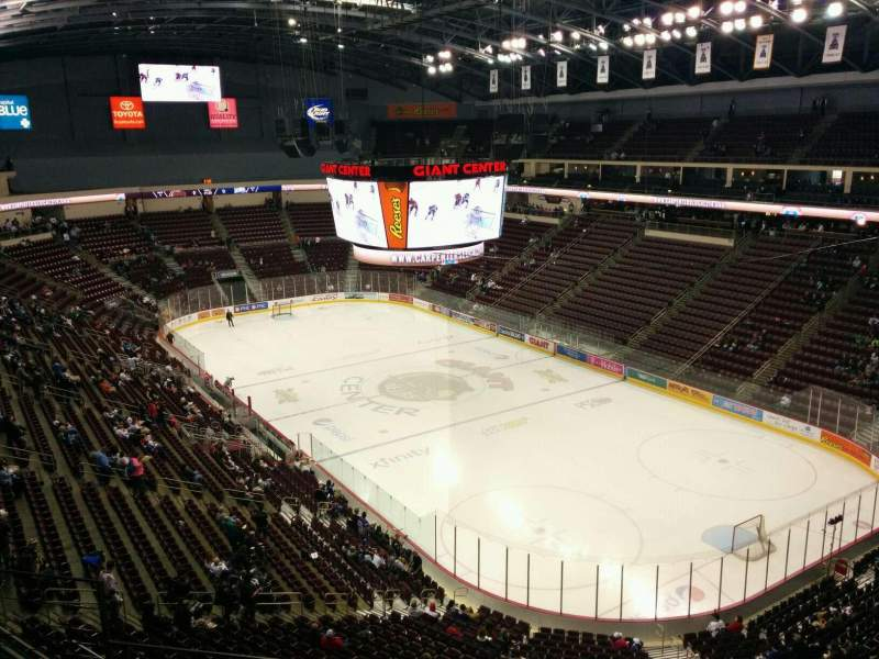 Seating view for Giant Center Section 224 Row e Seat 14