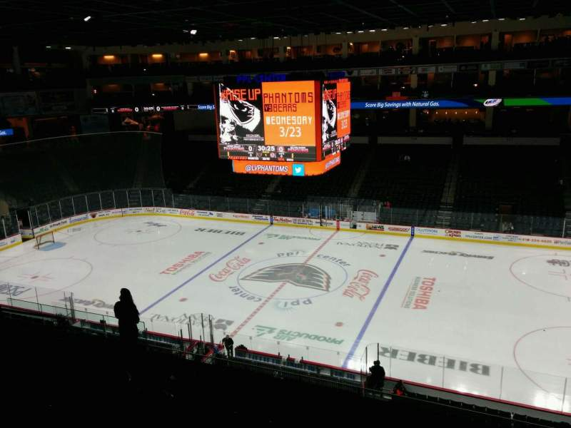 PPL Center, section: 203, row: 9, seat: 10