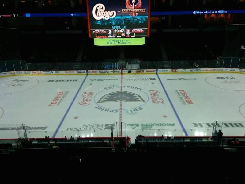 Seating view for PPL Center Section 204 Row 6 Seat 11
