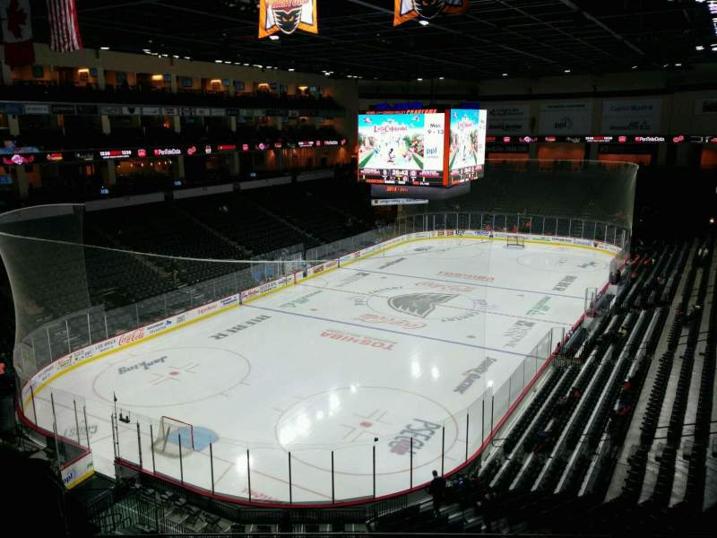 Seating view for PPL Center Section 208 Row 7 Seat 16
