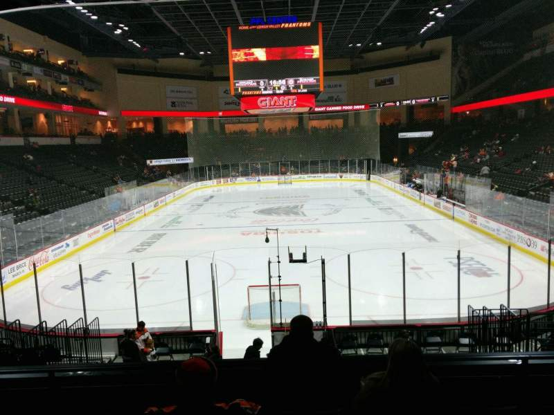 Seating view for PPL Center Section 110 Row 16 Seat 8