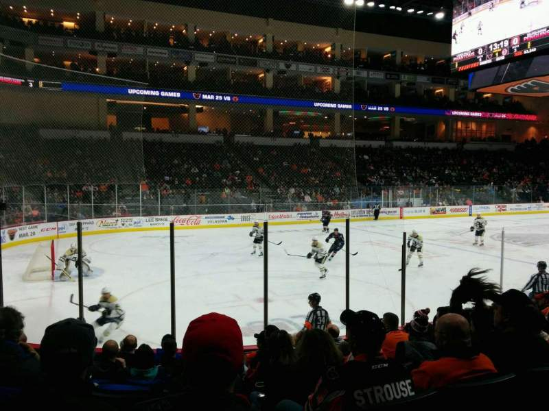 Seating view for PPL Center Section 107 Row 9 Seat 8