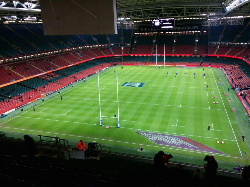Seating view for Principality Stadium Section u18 Row 23 Seat 18