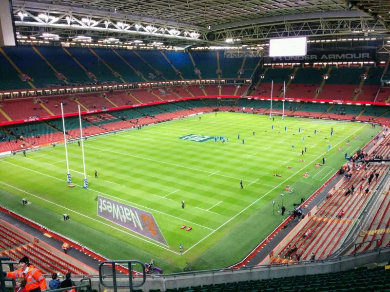 Seating view for Principality Stadium Section U15 Row 16 Seat 6