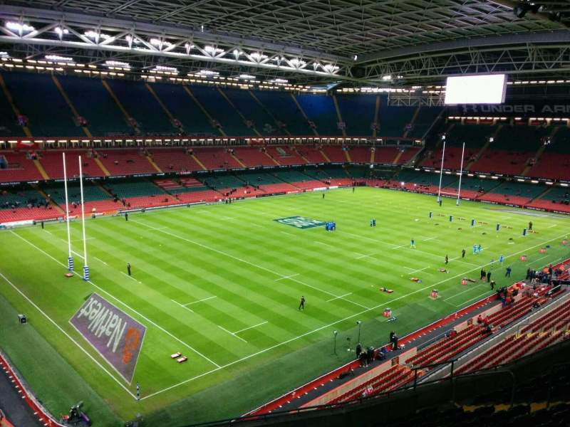 Seating view for Principality Stadium Section u14 Row 13 Seat 10