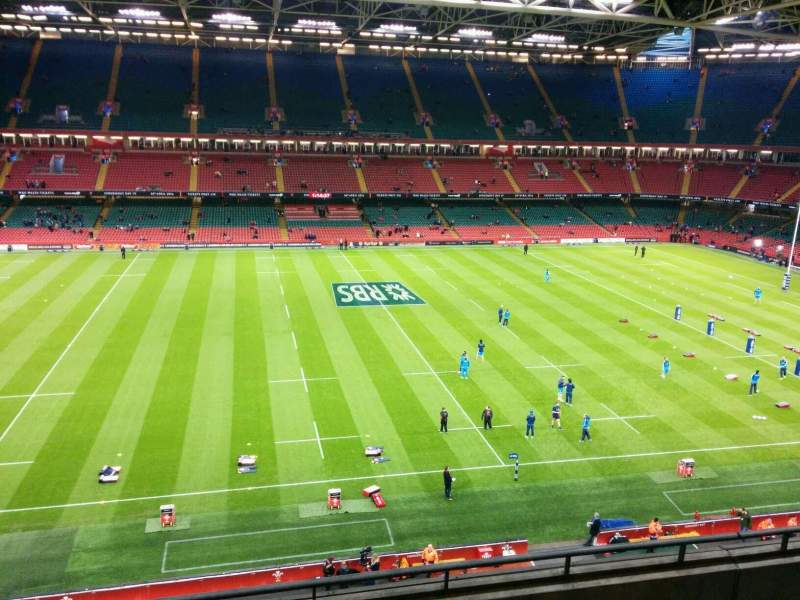Seating view for Principality Stadium Section u10 Row 5 Seat 16