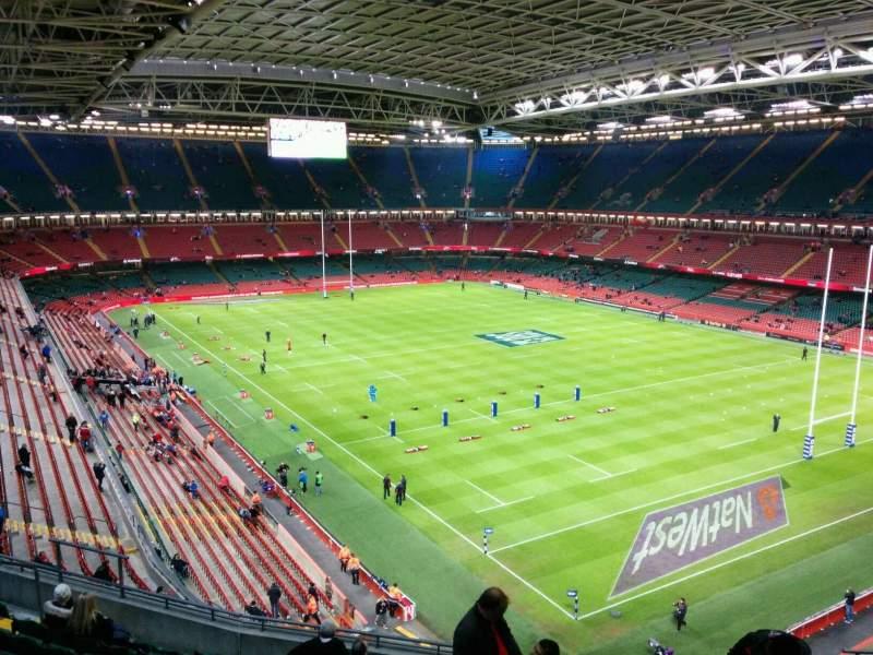 Seating view for Principality Stadium Section U3 Row 11 Seat 15