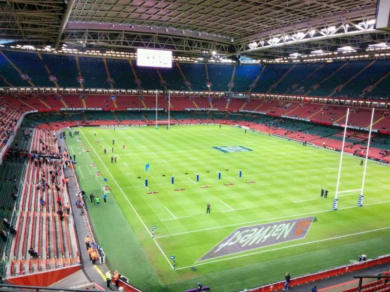 Principality Stadium, section: U2, row: 8, seat: 14