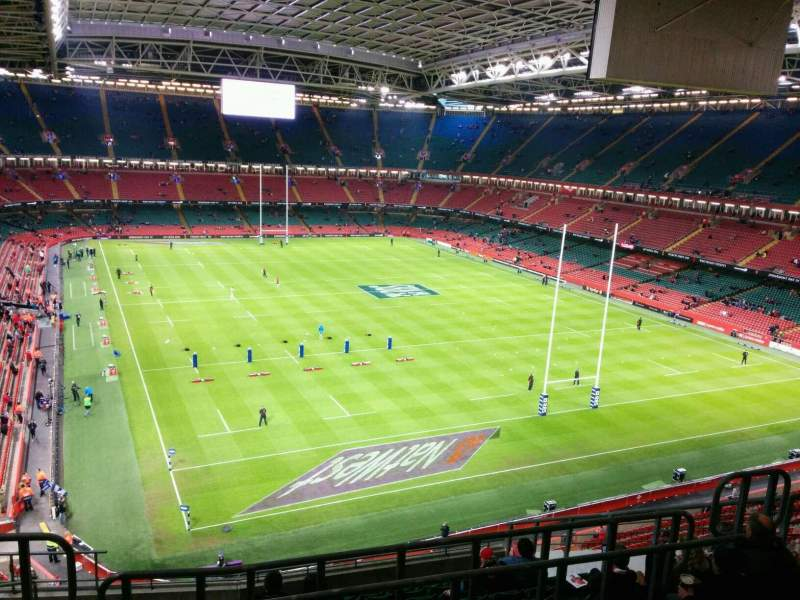 Seating view for Principality Stadium Section U1 Row 13 Seat 7
