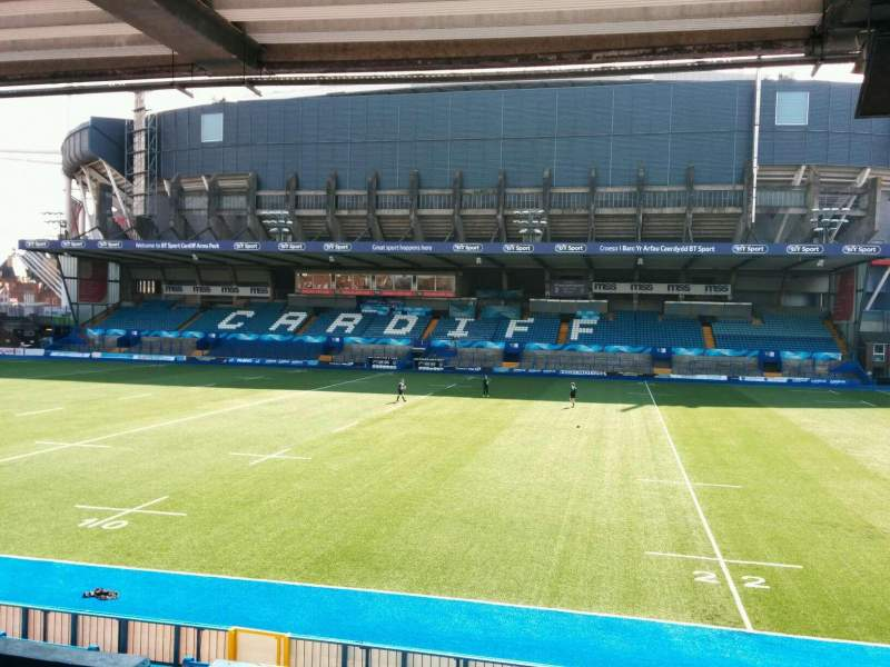 Seating view for Cardiff Arms Park Section 12 Row e Seat 4