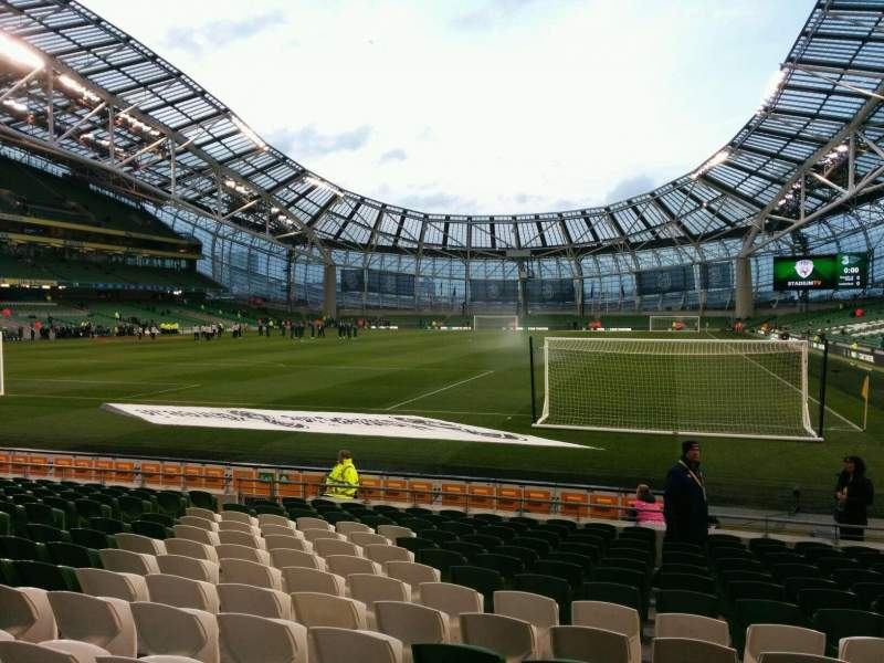 Seating view for Aviva Stadium Section 112 Row q Seat 3