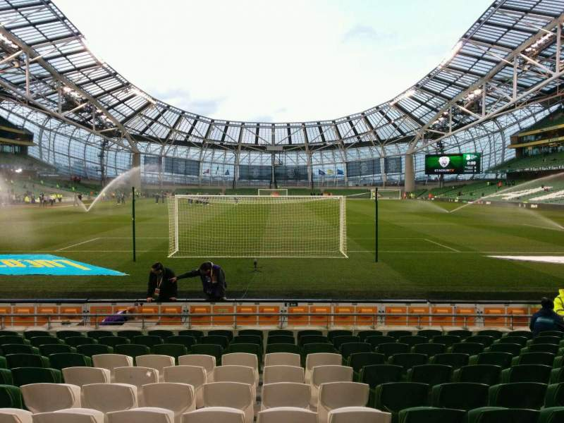 Seating view for Aviva Stadium Section 114 Row m Seat 27