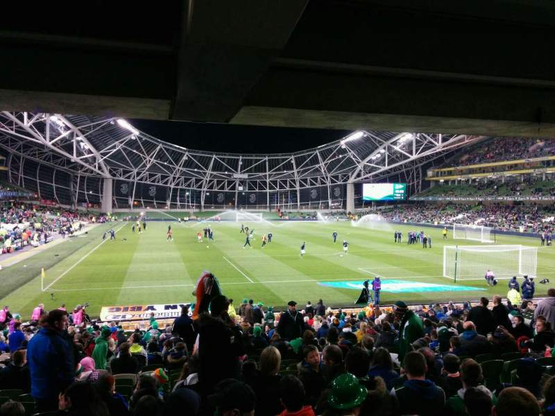 Seating view for Aviva Stadium Section 116 Row ee Seat 22