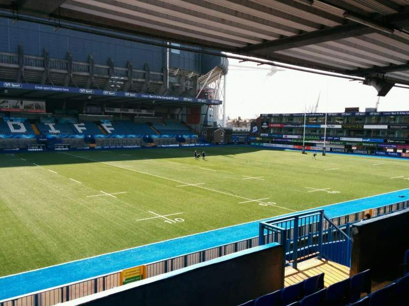 Seating view for Cardiff Arms Park Section 14 Row h Seat 28