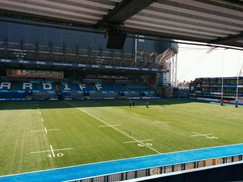 Seating view for Cardiff Arms Park Section 14 Row f Seat 6