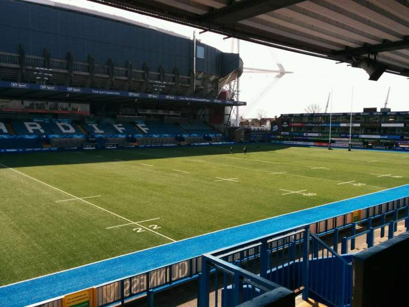Seating view for Cardiff Arms Park Section 15 Row d Seat 25