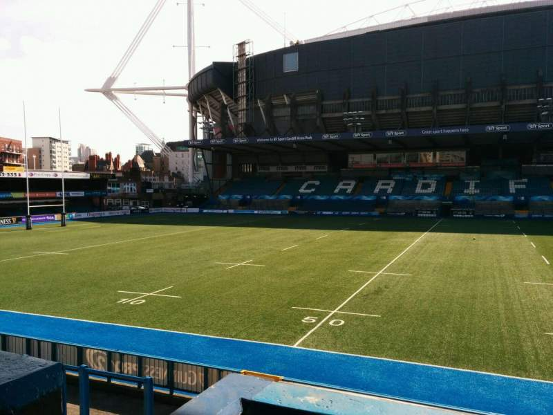Seating view for Cardiff Arms Park Section 13 Row b Seat 6