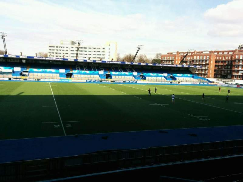 Seating view for Cardiff Arms Park Section 5 Row h Seat 6