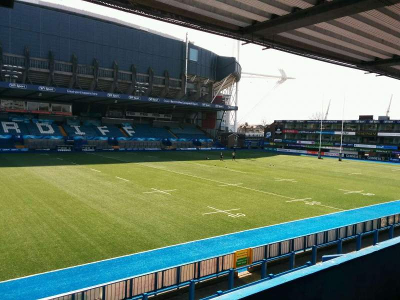 Seating view for Cardiff Arms Park Section 14 Row b Seat 1