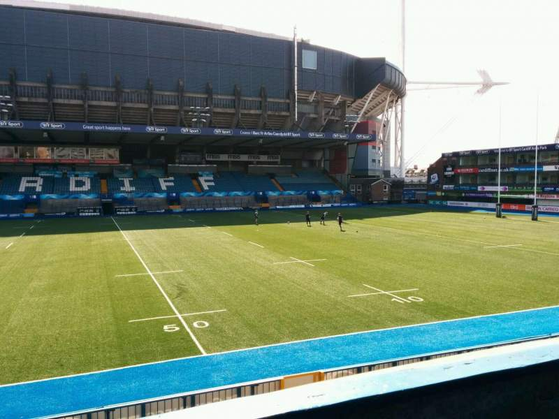 Seating view for Cardiff Arms Park Section 13 Row b Seat 24