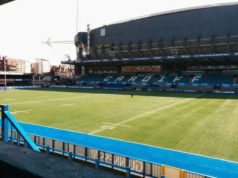 Seating view for Cardiff Arms Park Section 11 Row a Seat 21