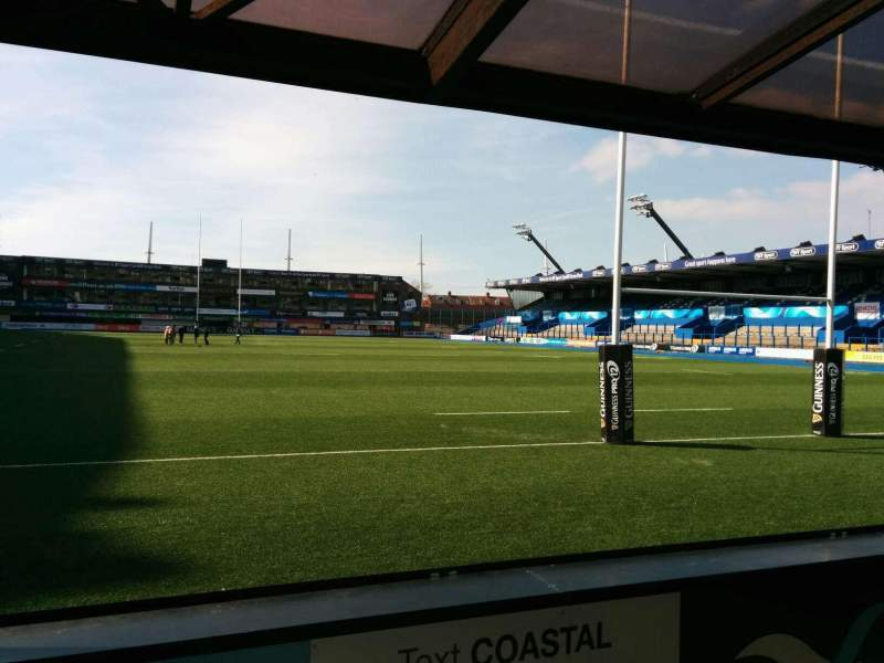 Seating view for Cardiff Arms Park Section 18 Row c Seat 16