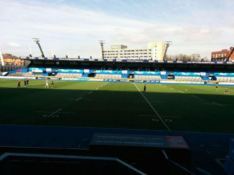 Seating view for Cardiff Arms Park Section 3 Row b Seat 25