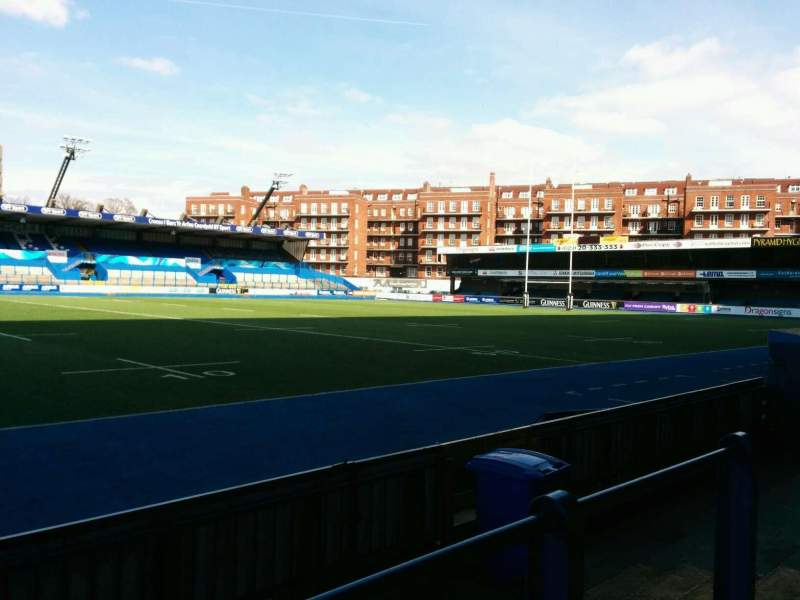 Seating view for Cardiff Arms Park Section Standing 4 Row GA