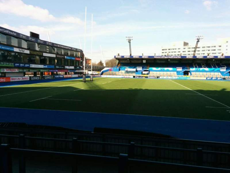 Seating view for Cardiff Arms Park Section Standing 5 Row top Seat ga
