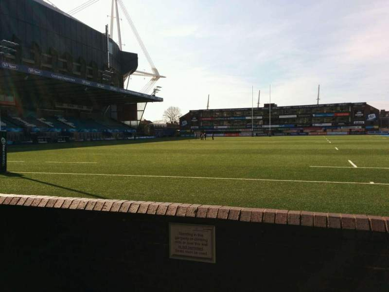Seating view for Cardiff Arms Park Section 16 Row b Seat 13