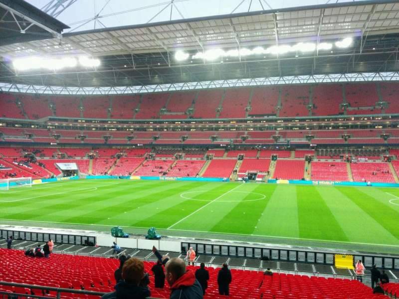 Seating view for Wembley Stadium Section 121 Row 33 Seat 290