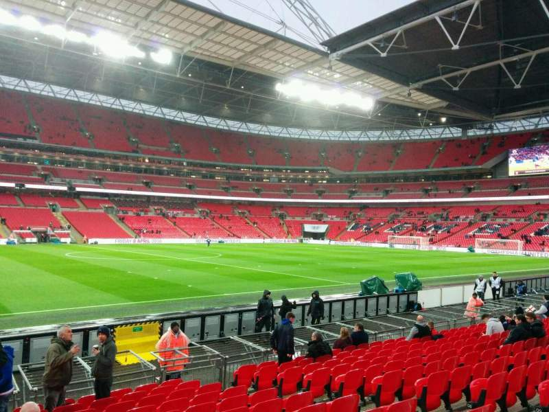 Seating view for Wembley Stadium Section 124 Row 13 Seat 51