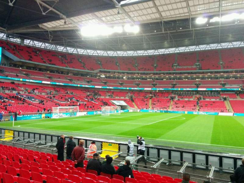 Seating view for Wembley Stadium Section 124 Row 13 Seat 53