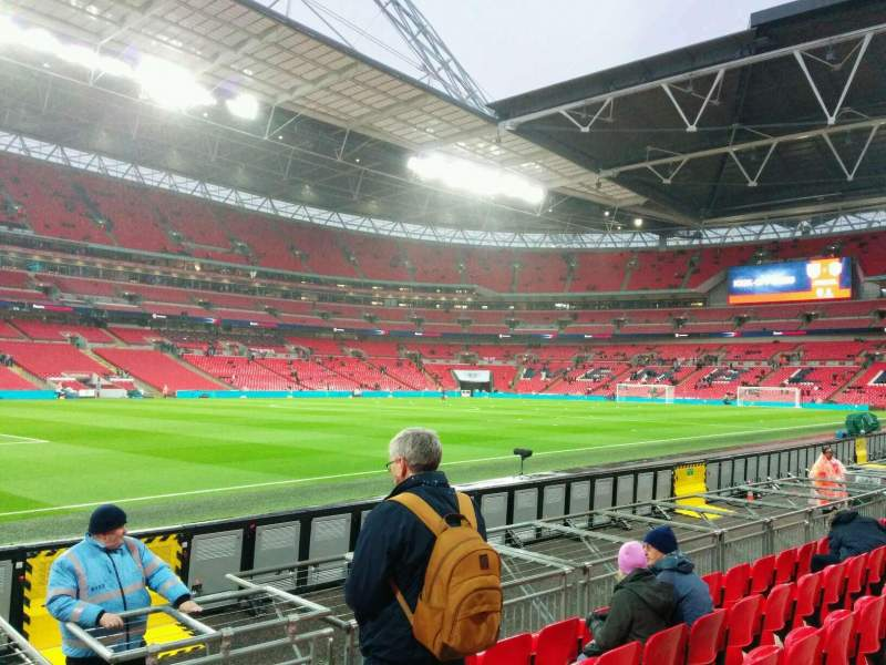 Seating view for Wembley Stadium Section 126 Row 6 Seat 110