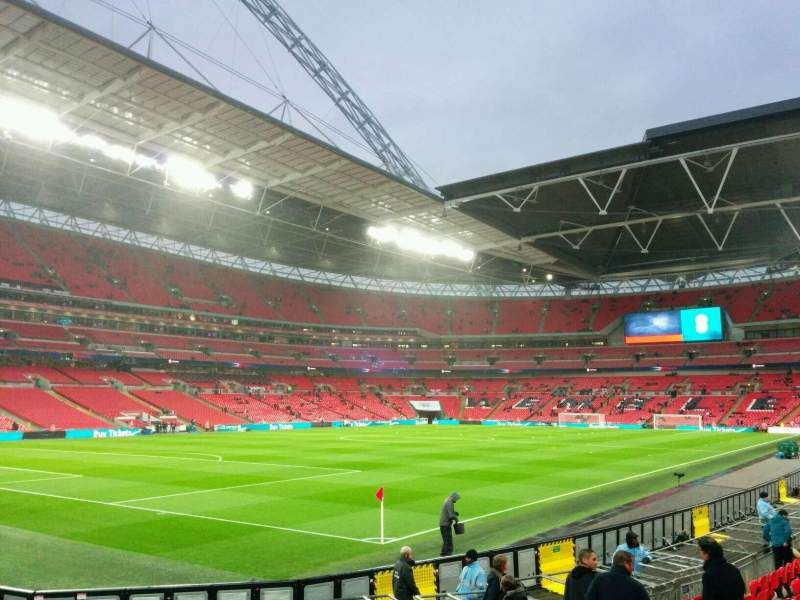Seating view for Wembley Stadium Section 128 Row 14 Seat 184