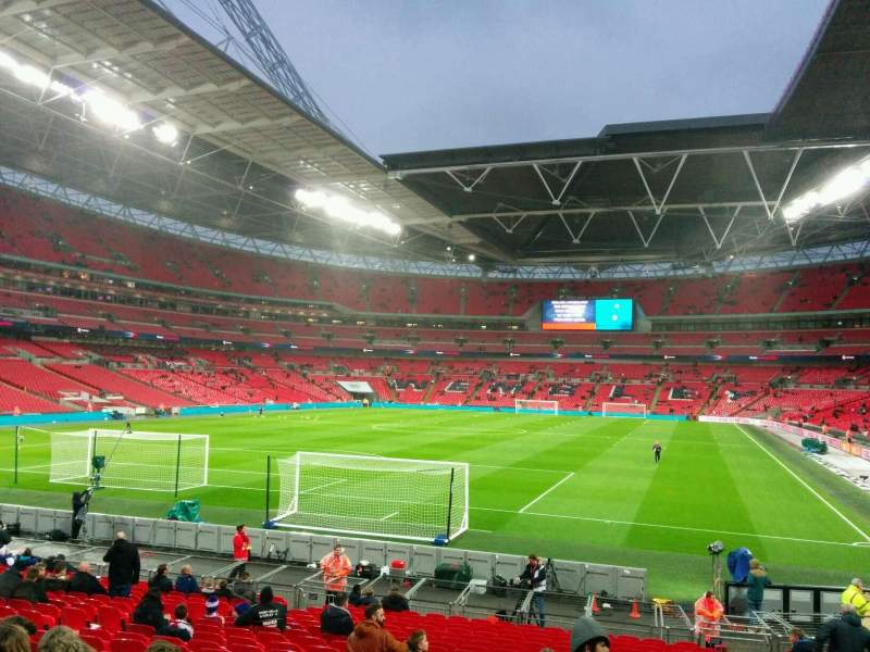 Seating view for Wembley Stadium Section 131 Row 22 Seat 260