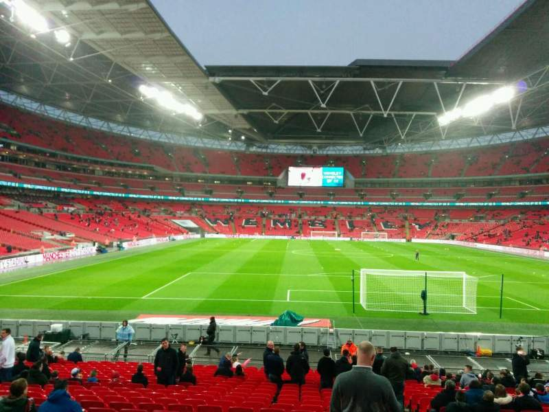 Seating view for Wembley Stadium Section 135 Row 24 Seat 19