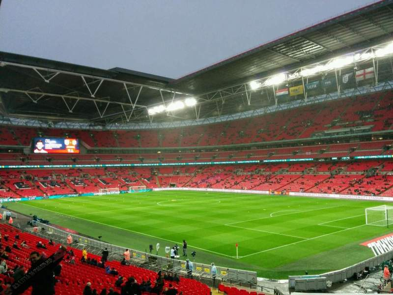 Seating view for Wembley Stadium Section 138 Row 35 Seat 147