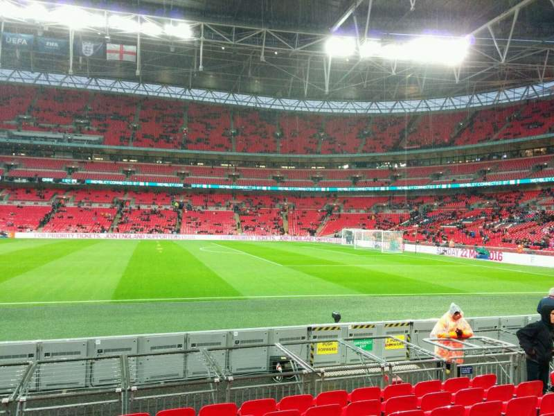 wembley stadium section 143 row 9 seat 260 england vs. Black Bedroom Furniture Sets. Home Design Ideas