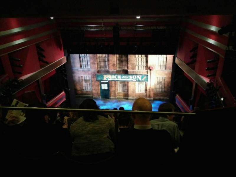 Seating view for Adelphi Theatre Section upper circle Row k Seat 15
