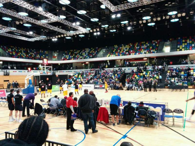 Seating view for Copper Box Arena Section 104 Row 4 Seat 69